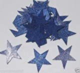 Blue 24 Fabric Satin 15mm Stars Iron On