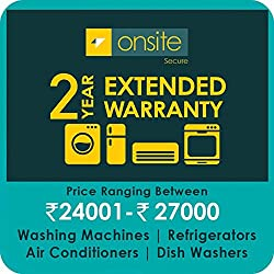 Onsite 2-year extended warranty for Large Appliance (Rs. 24001 to < 27000)