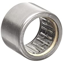 "INA SCE99P Needle Roller Bearing, Caged Drawn Cup, Steel Cage, Open End, Single Seal, Inch, 9/16"" ID, 3/4"" OD, 9/16"" Width, 14000rpm Maximum Rotational Speed, 2420lbf Static Load Capacity, 1730lbf Dynamic Load Capacity"