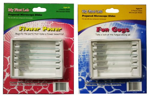 My First Lab Prepared Slide Sets Combo Pack - Flower Power and Fun Guys (Combination Slide compare prices)
