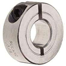 "Ruland CL-29-A One-Piece Clamping Shaft Collar, Aluminum, 1.813"" Bore, 2 7/8"" OD, 11/16"" Width"
