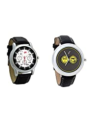 Gledati Men's Black Dial And Foster's Women's Grey Dial Analog Watch Combo_ADCOMB0001846