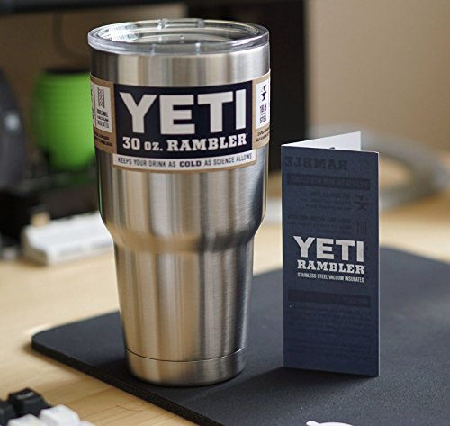 OEM 30 oz Yeti Rambler Cooler Tumbler Stainless Steel Cup Coffee Mug 2016 New (Tervis Tumblers 32 Oz With Lid compare prices)
