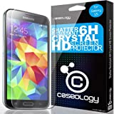 [Shatter-Resistant] Caseology Samsung Galaxy S5 LCD HD Premium [Crystal Clear] [6H] Front Protection Clarity Screen Protector + [Lifetime Warranty] [Made in Korea] (for Verizon, AT&T Sprint, T-mobile, Unlocked)