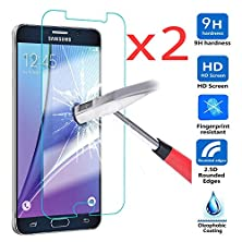 buy Nancy'S Shop For Samsung Galaxy Note 5 Ultra Thin Premium Tempered Glass Screen ProtectorFull HdFilmAnti-Scratch Anti-Fingerprint Bubble Drops Free Crystal Clear 0.3Mm9H Hardness 99% Hardness (X2)