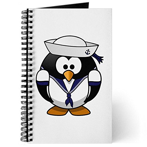 Journal (Diary) with Little Round Penguin - Navy Sailor on Cover