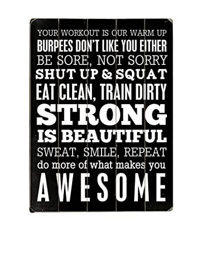 Artehouse Workout Motivation Wood Wall Sign