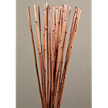 Green Floral Crafts Natural River Cane 3.5 Ft, Burnt Oak