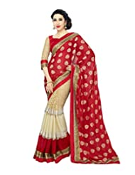 SareeShop New & Latest Red Color Georgette Fabric Wedding Party Wear Designer Saree For Ladies&girls(SS004HIT_Red_Free...