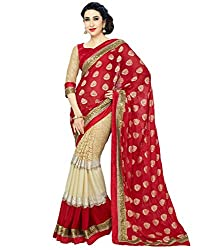 Sareeshop Women Georgette Saree With Blouse Piece (Ss013Hit _Red _Free Size)