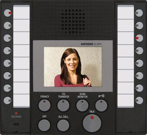 Aiphone Ax-8Mv Audio/Video Master Station For Ax Series Integrated Audio & Video Security System front-616955