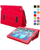 Snugg ™ - Étui Pour iPad 3 & 4 - Smart Case Avec Support Pied Et Une Garantie à Vie (En Cuir Rouge) Pour Apple iPad 3 et 4
