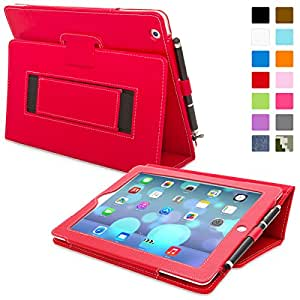 Snugg™ iPad 3 & 4 Case - Smart Cover with Flip Stand & Lifetime Guarantee (Red Leather) for Apple iPad 3 and 4