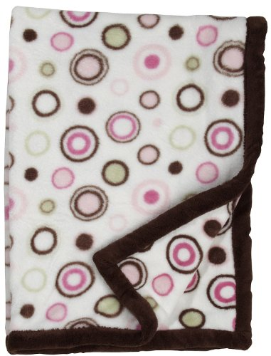 Carters Everyday Easy Printed Boa Blanket, Pink Circles (Discontinued by Manufacturer)