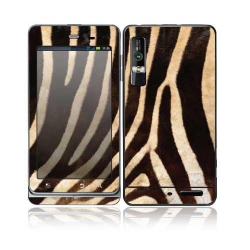 Zebra Print Design Decorative Skin Cover Decal Sticker for Motorola Droid 3 Cell Phone