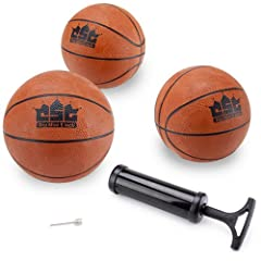 Buy Crown Sporting Goods Mini Basketball with Needle and Inflation Pump (Set of 3), 5-Inch by Crown Sporting Goods