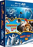 L'Incroyable histoire de Winter le dauphin 3D + Animaux & Cie en 3D + Happy Feet 2 3D [Blu-ray 3D]