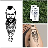 Mr T - temporary tattoo (Set of 2)