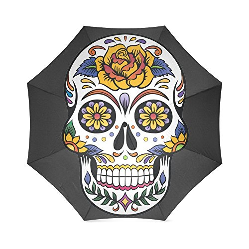 Fashion Design Sugar Skull Umbrella -Auto Foldable Umbrella 100% polyester