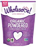 Wholesome Sweeteners Fair Trade Organic Powdered Sugar, 16-Ounce Pouches (Pack of 6)