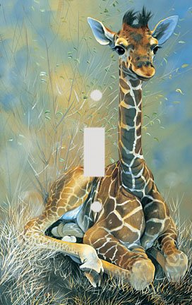Baby Giraffe Decorative Switchplate Cover