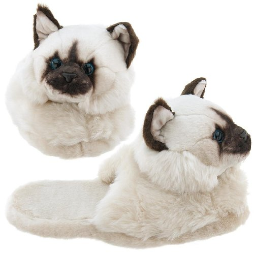 Image of Himalayan Cat Animal Slippers for Women (B0037TO75U)