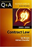 Contract Law (Blackstone's Law Q & A) (0199260893) by Ian Brown