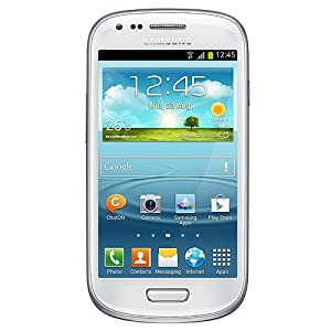 Samsung I8190 Galaxy S III Mini Unlocked with 5MP Camera, 4.0-Inch Touchscreen, Android 4.1, Bluetooth and GPS - No Warranty - Ceramic White