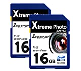 Twin Pack 2 x 16GB Memory Cards SD SDHC Class10 32GB Total for Canon Digital IXUS 70 digital camera/camcorde