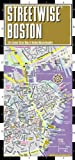 Streetwise Boston Map - Laminated City Center Street Map of Boston, Massachusetts - Folding pocket size travel map with MBTA subway map & trolley lines