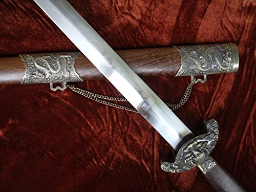Longquan sword/Chinese sword/Carbon steel blade/Rosewood scabbard/Alloy/Hand-made