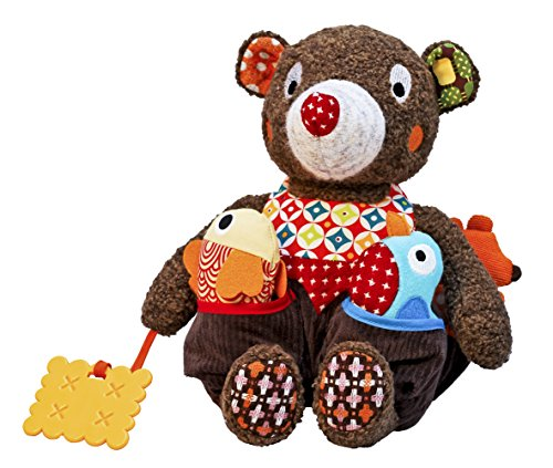 Woodours Baby Activity Rattle and Teether Bear