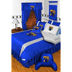Kentucky Wildcats 7 Pc QUEEN Comforter Set (Comforter, 1 Flat Sheet, 1 Fitted Sheet,... by Sports Coverage