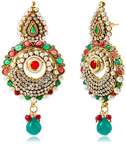 Sia Sia Art Jewllery Drop Earrings For Women (Multi-Color) (AZ1340) (Multicolor)