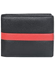 Leatherstile Black & Red Women's Wallet