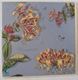 Royal Botanic Gardens Kew blank greetings card HONEYSUCKLE flower design 16cm square