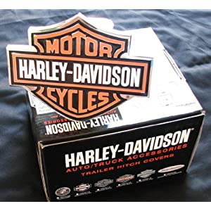 Harley-Davidson Premium Hitch Cover - Black/Orange