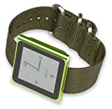 iPod Nano Watch Strap - Olive Nylon