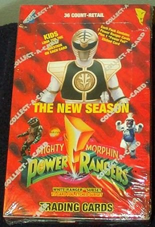 Mighty Morphin Power Rangers Red Trading Cards Box -36 Count (Mmpr Season 1 compare prices)