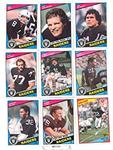 1984 Topps Oakland Raiders Complete 21 Card Set Shipped in an Acrylic Case -... by Topps