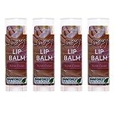 Rain Forest Natural Luxury Lip Balm, Butter Cream, 4 Count