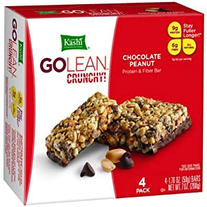 Review Kashi GOLEAN Bar Crunchy! Chocolate Peanut (1.76-Ounce), 4-Count  Bars (Pack of 6)