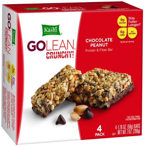 Kashi GOLEAN Bar Crunchy! Chocolate Peanut (1.76-Ounce), 4-Count  Bars (Pack of 6)