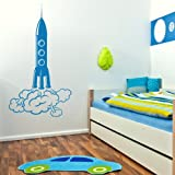 Rocket Wall Graphic / Modern Interior Decor / Large Vinyl Decal / Mural bn16