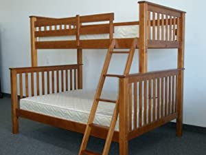 Bunk Bed Twin over Full Mission style in Expresso from Bedz King