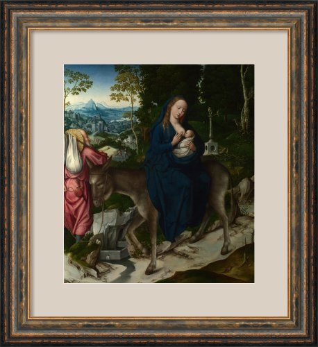The Flight Into Egypt. Panel From An Altarpiece By Unknown Framed front-983384