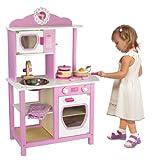 Viga Little Chef Wooden Kitchen Pink & White