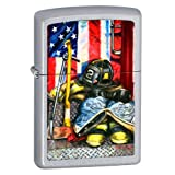 American Heroism Firefighter's Tools Paul Walsh Chrome Zippo Lighter