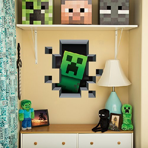 Minecraft 3d Giant Wall Graphics Decal Stickers