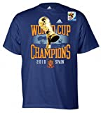 Spain Soccer Navy adidas 2010 World Cup Champions Trophy in Hand T-Shirt